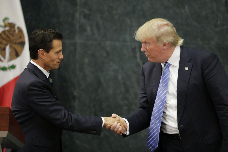 Donald Trump rencontre le président mexicain Enrique Pena Nieto, le 31 août 2016.