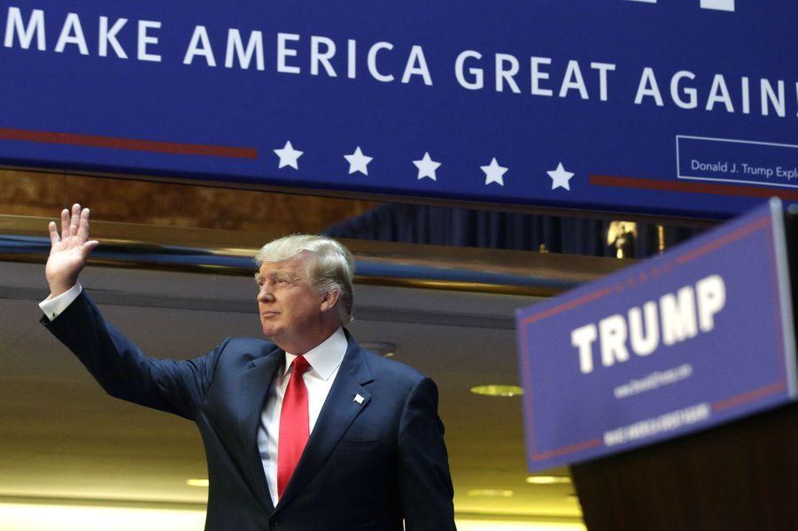 Donald Trump annonce sa candidature à la présidentielle à New York, le 16 juin 2015.