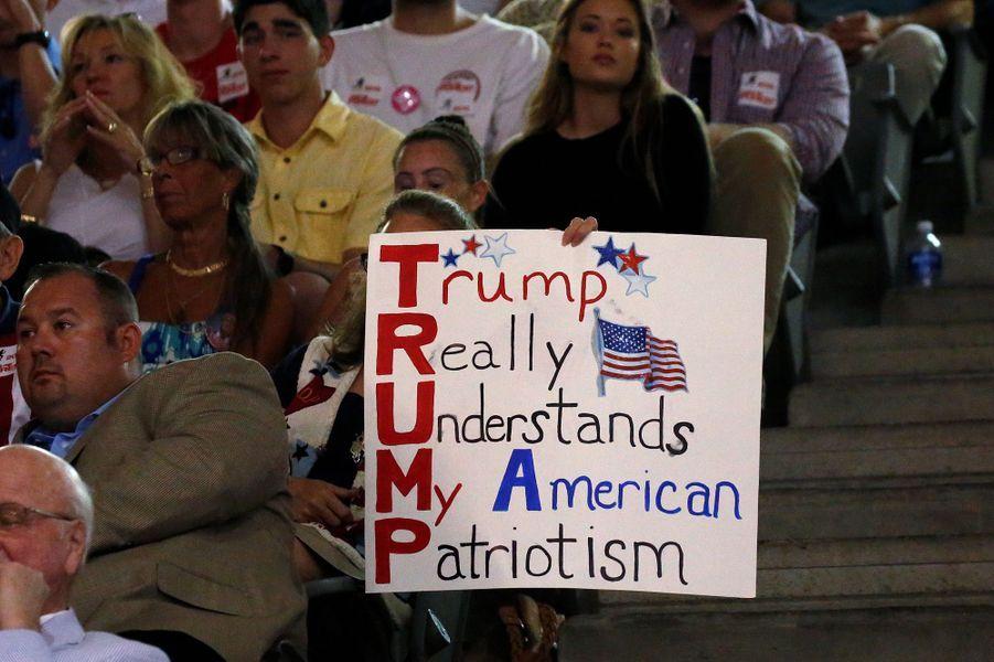 Lors d'un meeting de Donald Trump àWinston-Salem, le 25 juillet 2016.