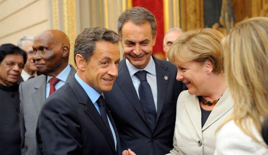Angela Merkel et Jose Luiz Zapatero présents