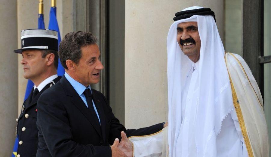 L'émir du Qatar, Hamad bin Khalifa al-Thani