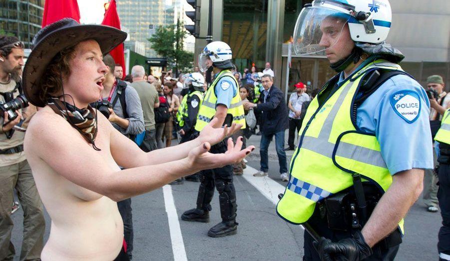 Les étudiants manifestent contre le Grand Prix de F1, un évènement en partie financé par le Québec.