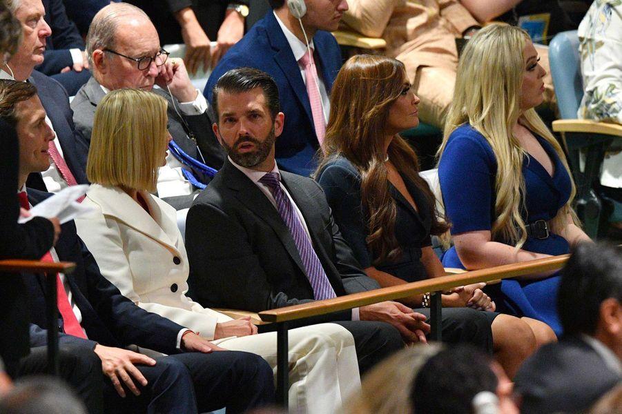 Ivanka Trump, Donald Trump Jr et Kimberly Guilfoyle, avec Tiffany Trumplors de l'Assemblée générale des Nations unies à New York, le 24 septembre 2019.