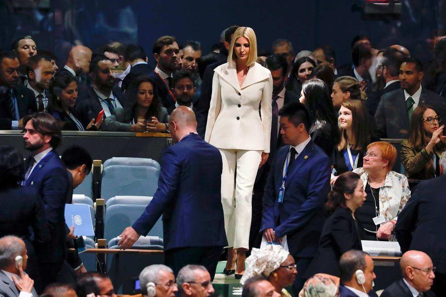 Ivanka Trump lors de l'Assemblée générale des Nations unies à New York, le 24 septembre 2019.