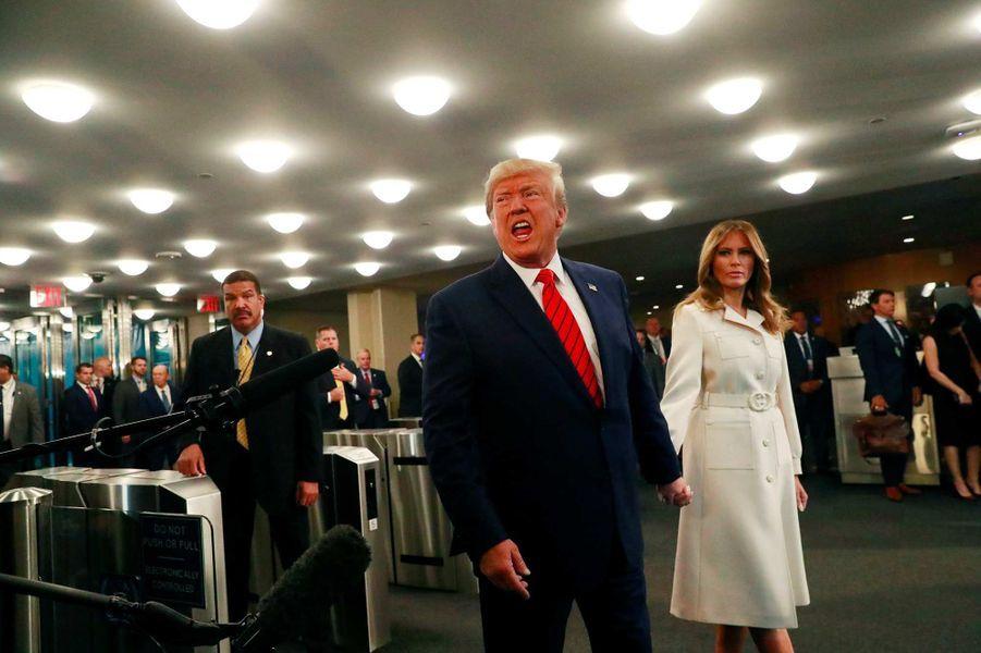 Donald et Melania Trump lors de l'Assemblée générale des Nations unies à New York, le 24 septembre 2019.