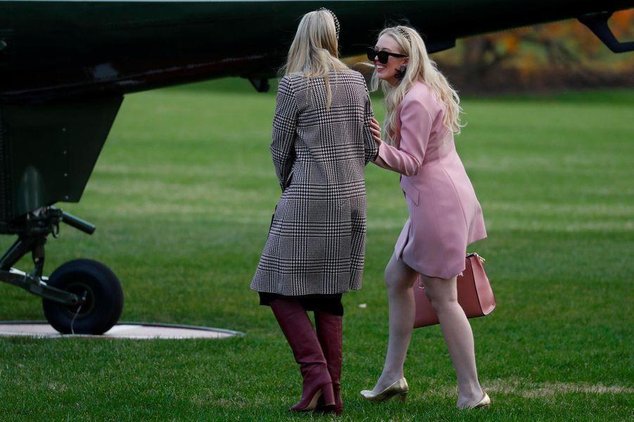Ivanka et Tiffany Trump quittant la Maison-Blanche, le 20 novembre 2018.