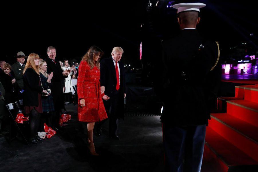 Melania et Donald Trump à Washington, le 30 novembre 2017.