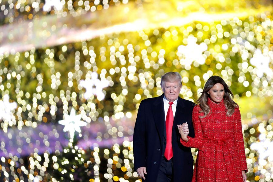 Donald et Melania Trump à Washington, le 30 novembre 2017.