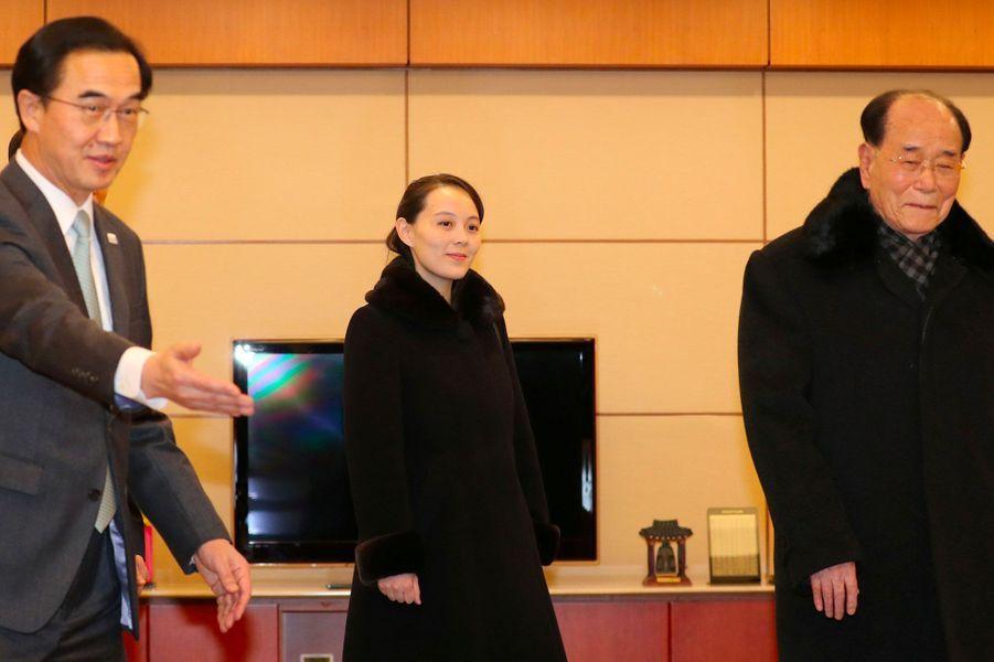 Kim Yo-Jong, la petite soeur de Kim Jong-un, est arrivée en Corée du Sud, le 9 février 2018.