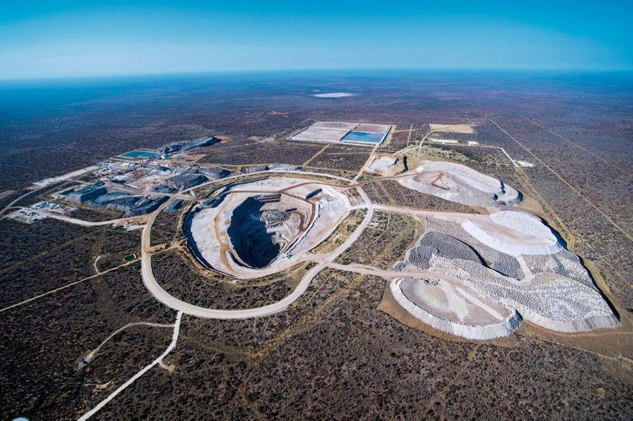 La mine à ciel ouvert de Karowe, dans le désert du Kalahari. Le Botswana est le plus gros producteur de diamants du monde avec la Russie.