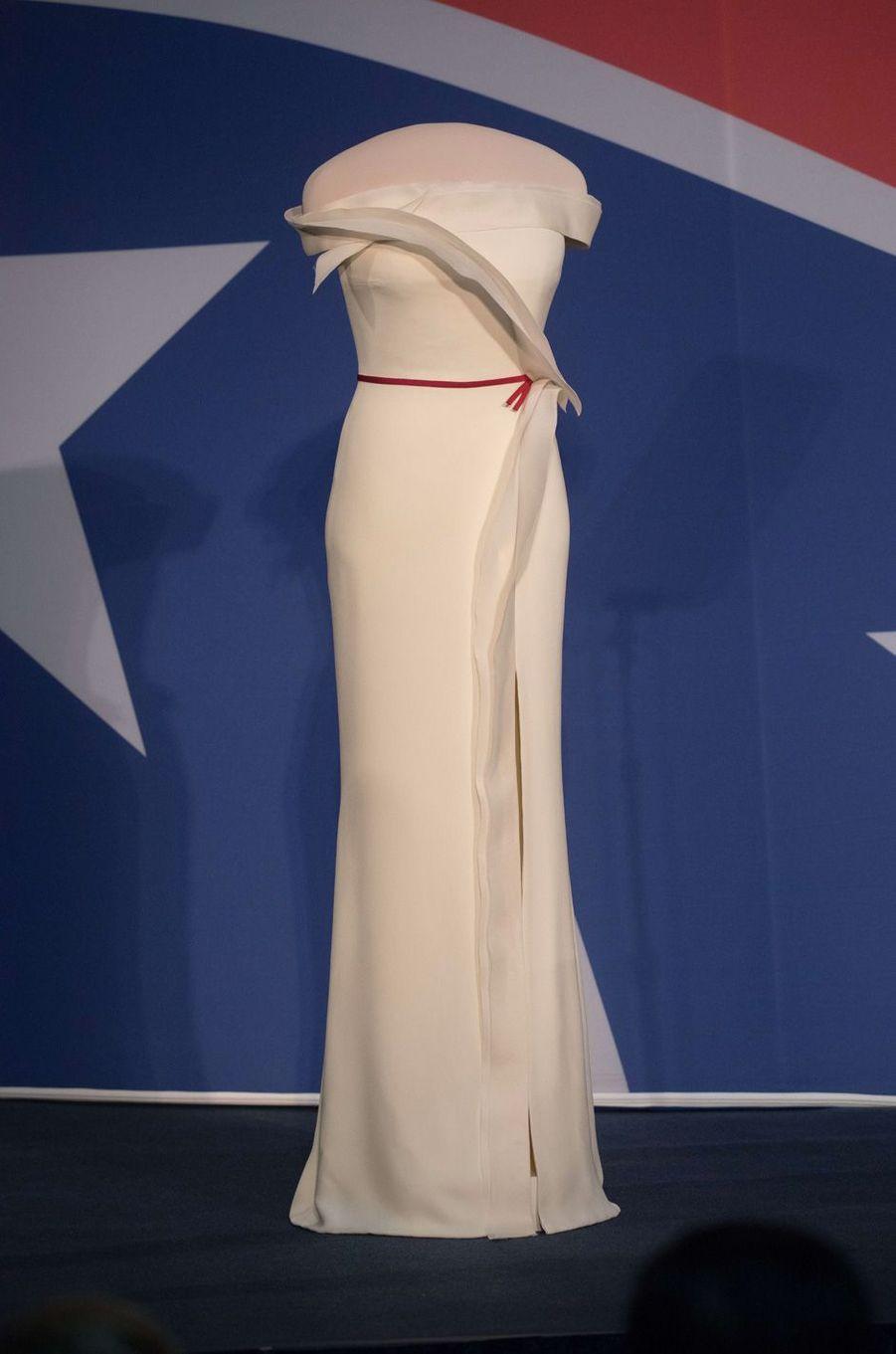 La robe deMelania Trump à Washington, le 20 octobre 2017.