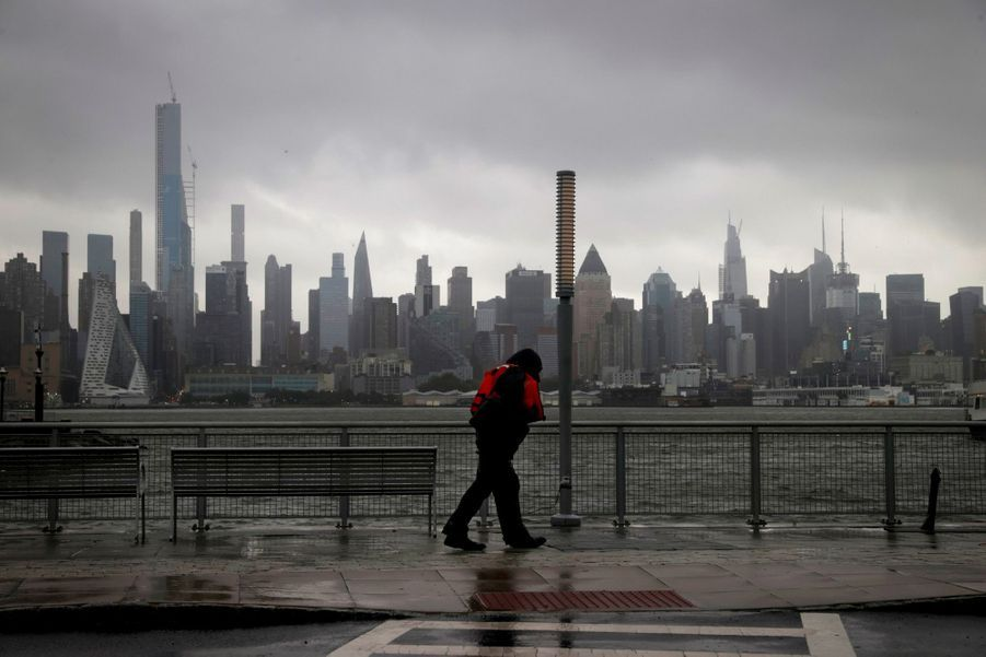 Isaias sur New York, le 4 août 2020.