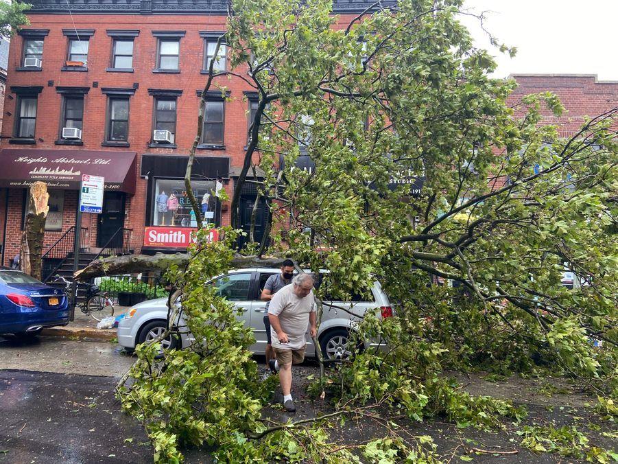 La tempête à Brooklyn, le 4 août 2020.