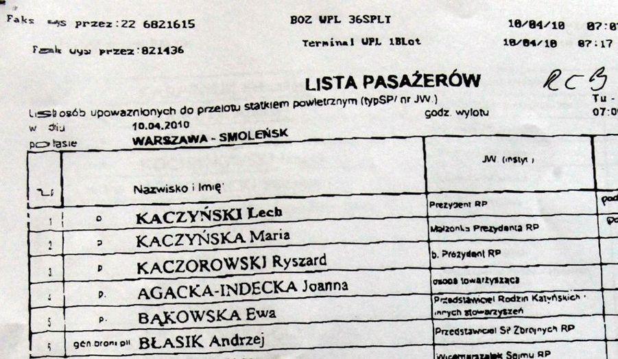La liste des passagers