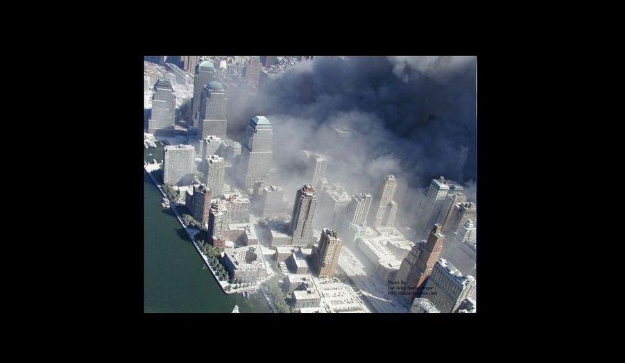 Des photos prises des hélicoptères du NYPD