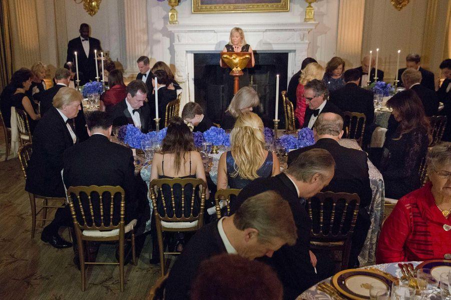 Lors du Governors Ball à la Maison-Blanche, le 25 février 2018.