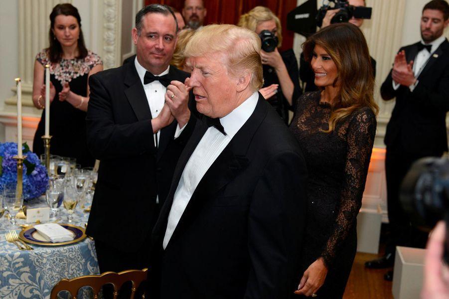 Donald et Melania Trump au Governors Ball à la Maison-Blanche, le 25 février 2018.