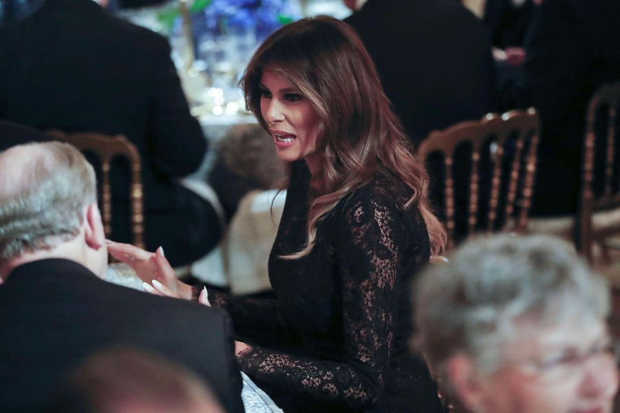Melania Trump au Governors Ball à la Maison-Blanche, le 25 février 2018.