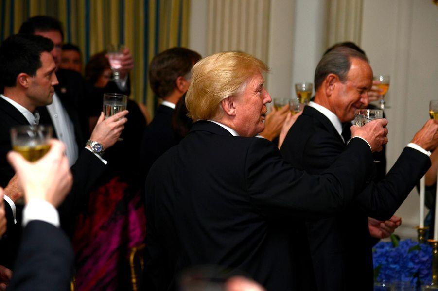 Donald Trump au Governors Ball à la Maison-Blanche, le 25 février 2018.