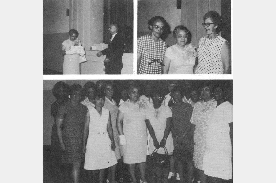 En 1971, à la fête pour le départ en retraite de Dorothy Vaughan.