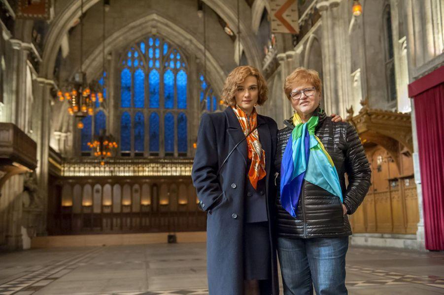 Rachel Weisz et Deborah Lipstadt sur le tournage du «Procès du siècle».