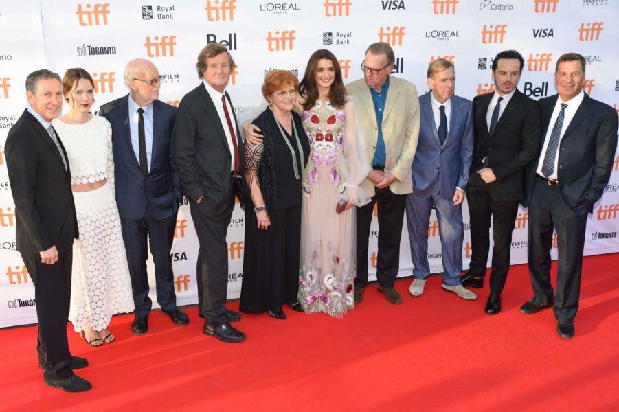 L'équipe du film «Le procès du siècle», en septembre 2016.