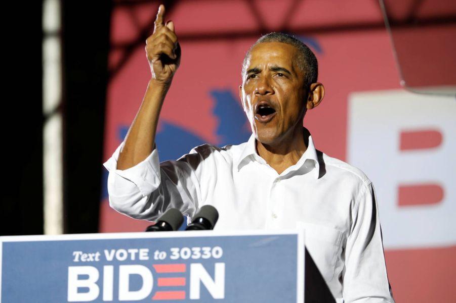 Barack Obama en campagne pour Joe Biden à Miami, en Floride, le 2 novembre 2020.
