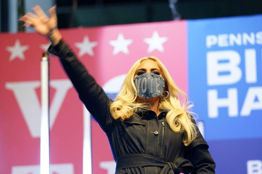 Lady Gaga à Pittsburgh, en Pennsylvanie, le 2 novembre 2020.