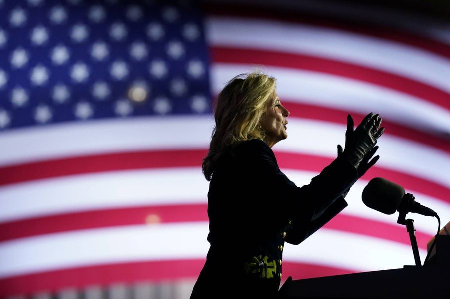 Jill Biden à Pittsburgh, en Pennsylvanie, le 2 novembre 2020.