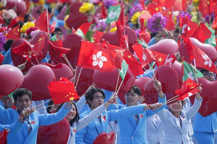 A Hong Kong le 1er octobre 2019, jour des 70 ans de la Chine communiste.