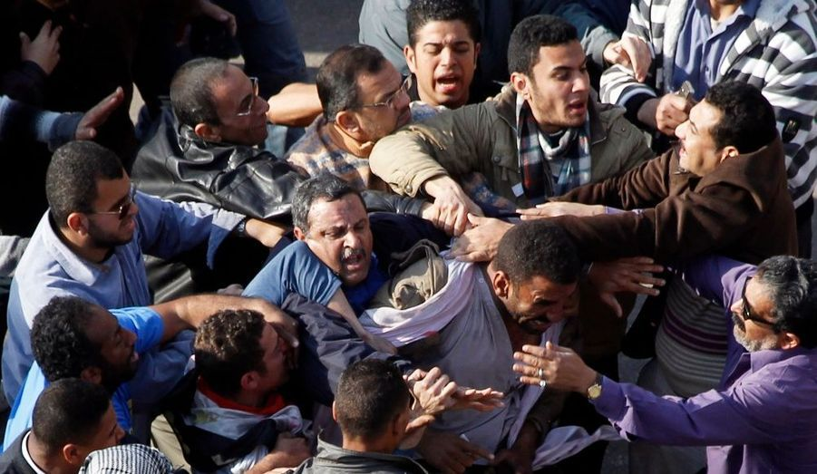 Pro et anti Moubarak