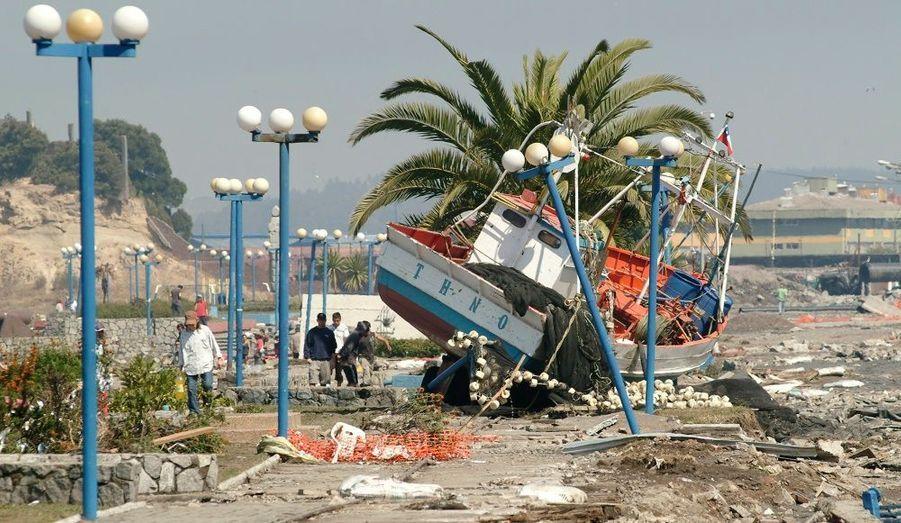 Le tremblement de terre a provoqué un tsunami sur les côtes chiliennes.