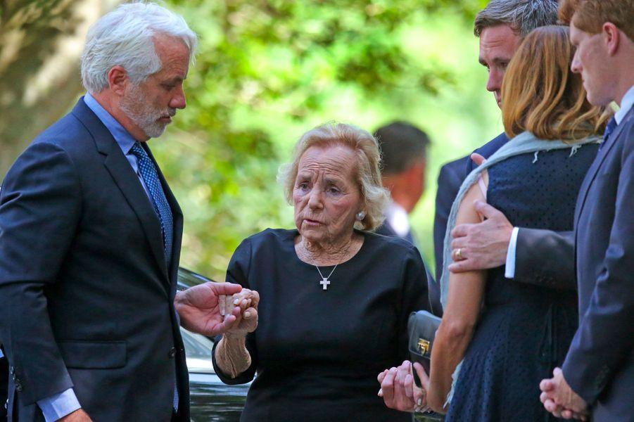 Ethel Kennedy, la veuve de Bobby Kennedy et la grand-mère de Saoirse, lundi à Centerville.