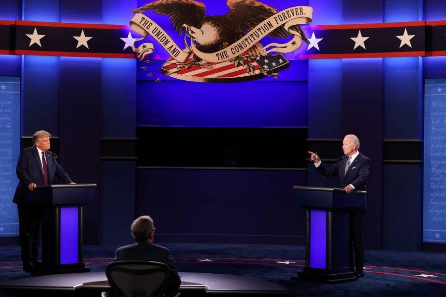 Donald Trump et Joe Bidenà Cleveland, le 29 septembre 2020.