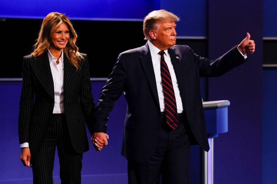 Melania et Donald Trumpà Cleveland, le 29 septembre 2020.
