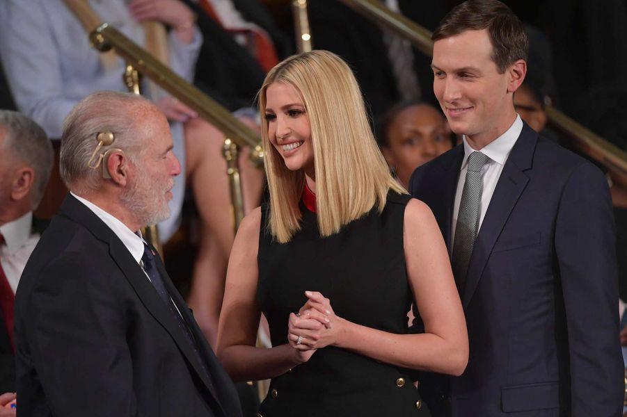 Rush Limbaugh, Ivanka Trump et Jared Kushnerau Capitole, le 4 février 2020.