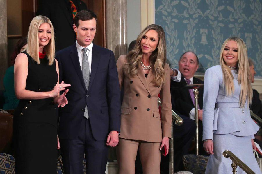 Ivanka Trump, Jared Kushner, Lara Trump et Tiffany Trump au Capitole, le 4 février 2020.