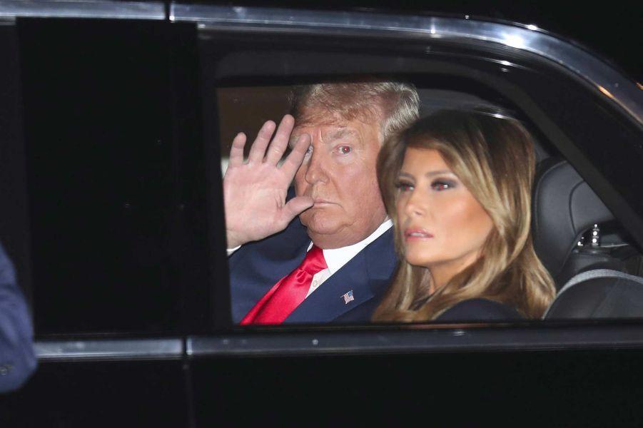Donald et Melania Trump se rendant au Capitole, le 4 février 2020.