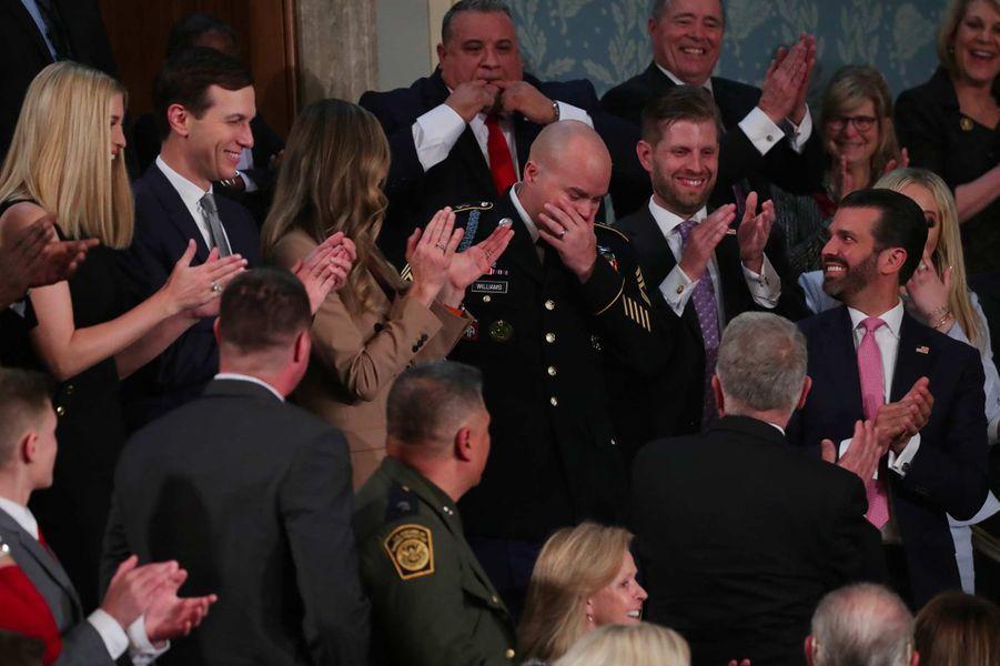 Townsend Williams, le soldat déployé en Afghanistan venu surprendre sa femmeau Capitole, le 4 février 2020.
