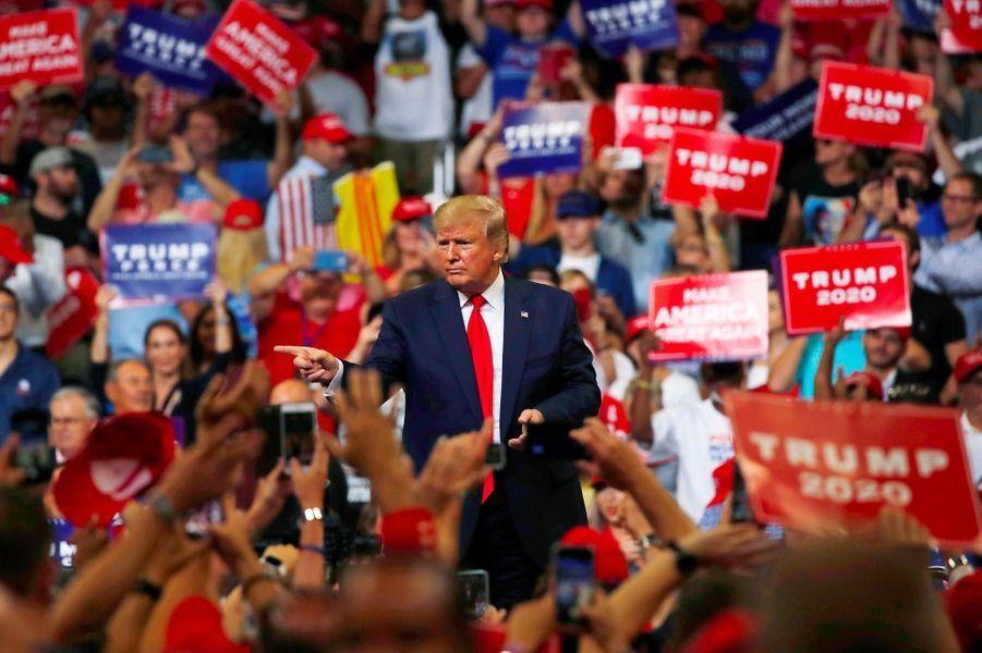 Donald Trump lors d'un meeting à Orlando, en Floride, le 18 juin 2019.