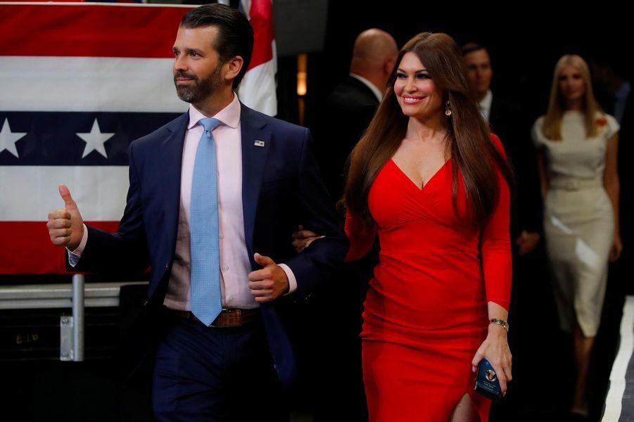 Donald Trump Jr et Kimberly Guilfoylelors d'un meeting à Orlando, en Floride, le 18 juin 2019.