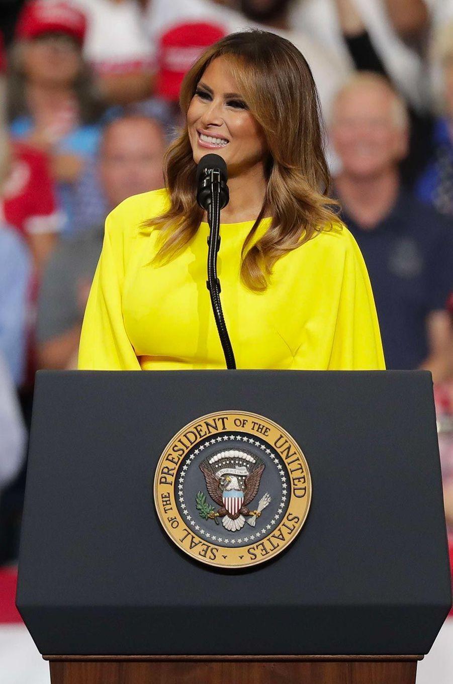 Melania Trump lors d'un meeting à Orlando, en Floride, le 18 juin 2019.