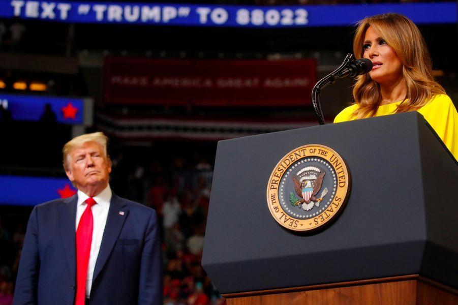 Donald et Melania Trump lors d'un meeting à Orlando, en Floride, le 18 juin 2019.