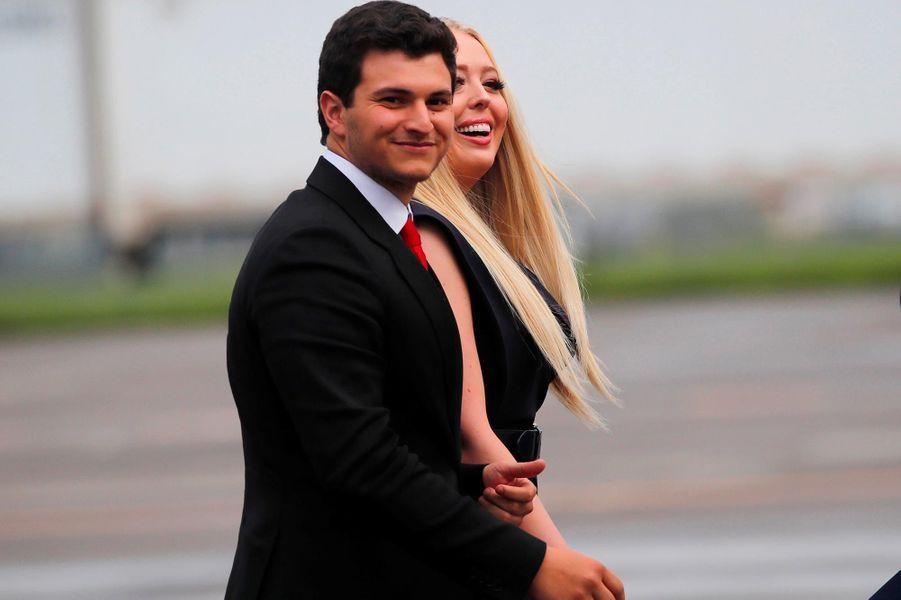 Tiffany Trump et son petit-ami Michael Boulos avantle meeting à Orlando, en Floride, le 18 juin 2019.