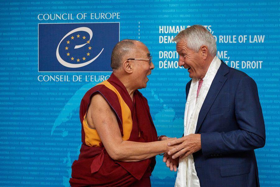Le Dalaï-lama au Conseil de l'Europe.