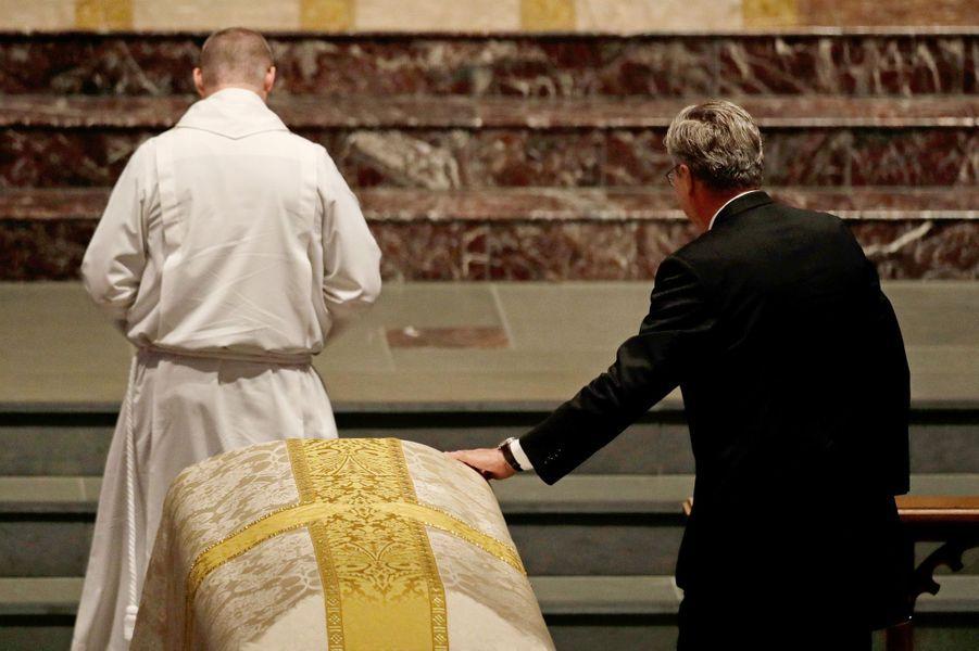 Jeb Bush aux funérailles de Barbara Bush