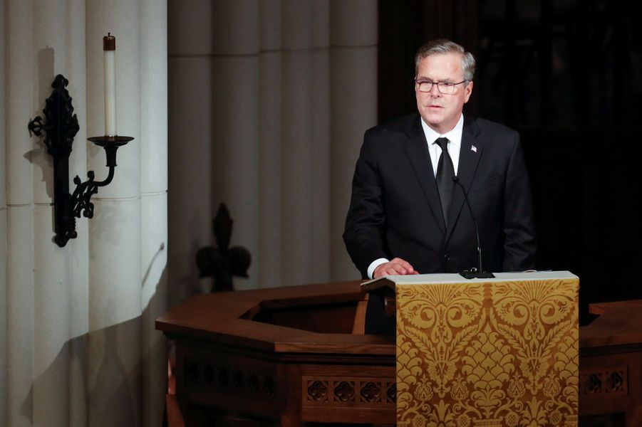 Le discours de Jeb Bush aux funérailles de Barbara Bush