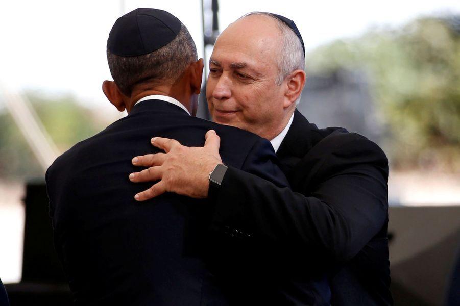 Barack Obama et le fils de Shimon Peres, Chemi.