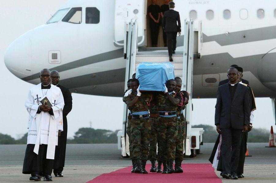Hommage à Kofi Annan à Accra, le 10 septembre 2018.