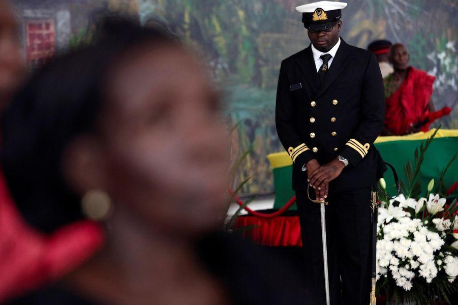 Hommage à Kofi Annan à Accra, le 12 septembre 2018.